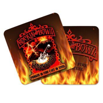RTB-Fire Aluminium Coasters