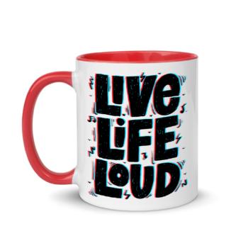 Live Life Loud Red Mug